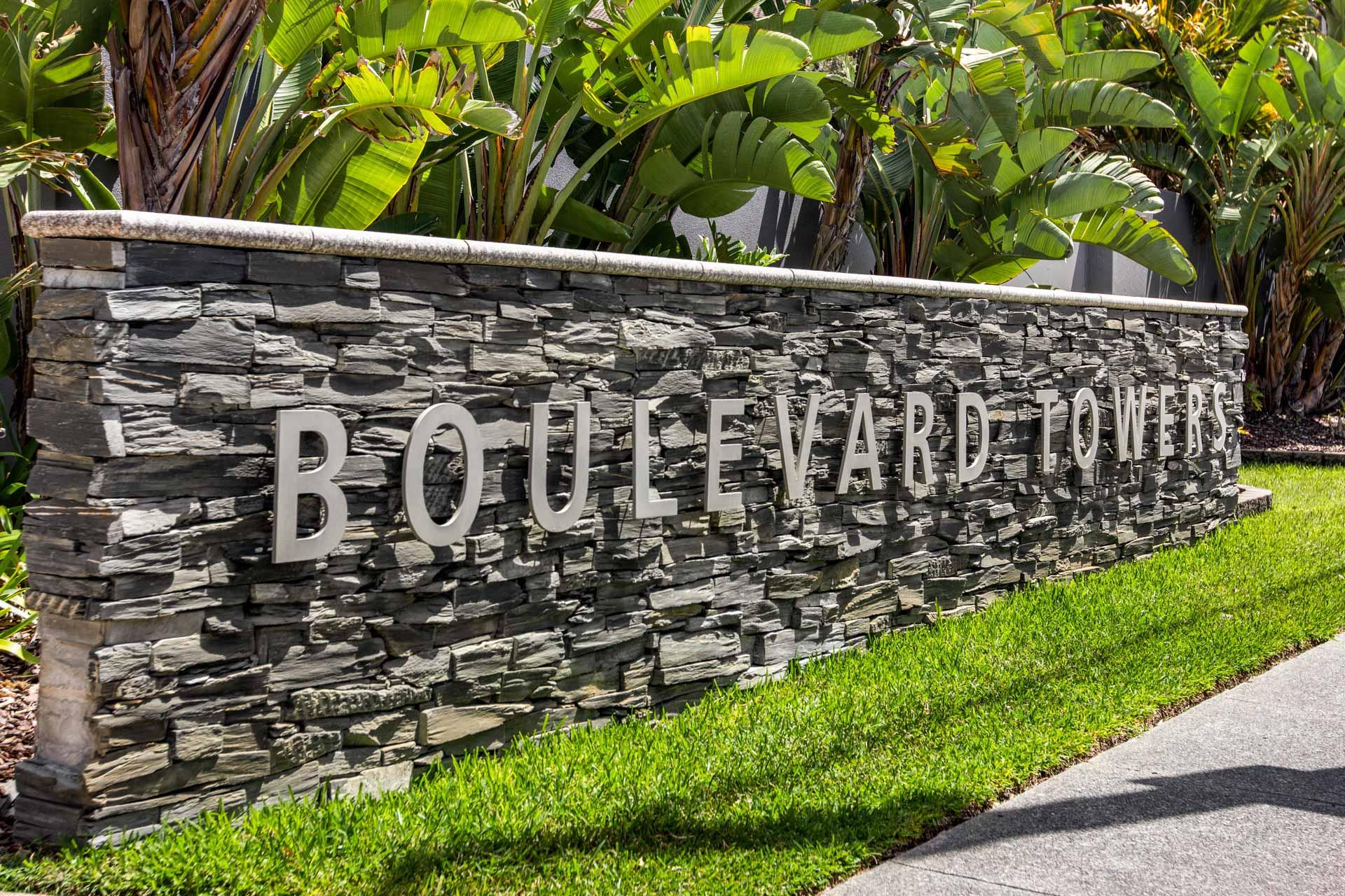 Boulevard Towers Broadbeach Entry Sign