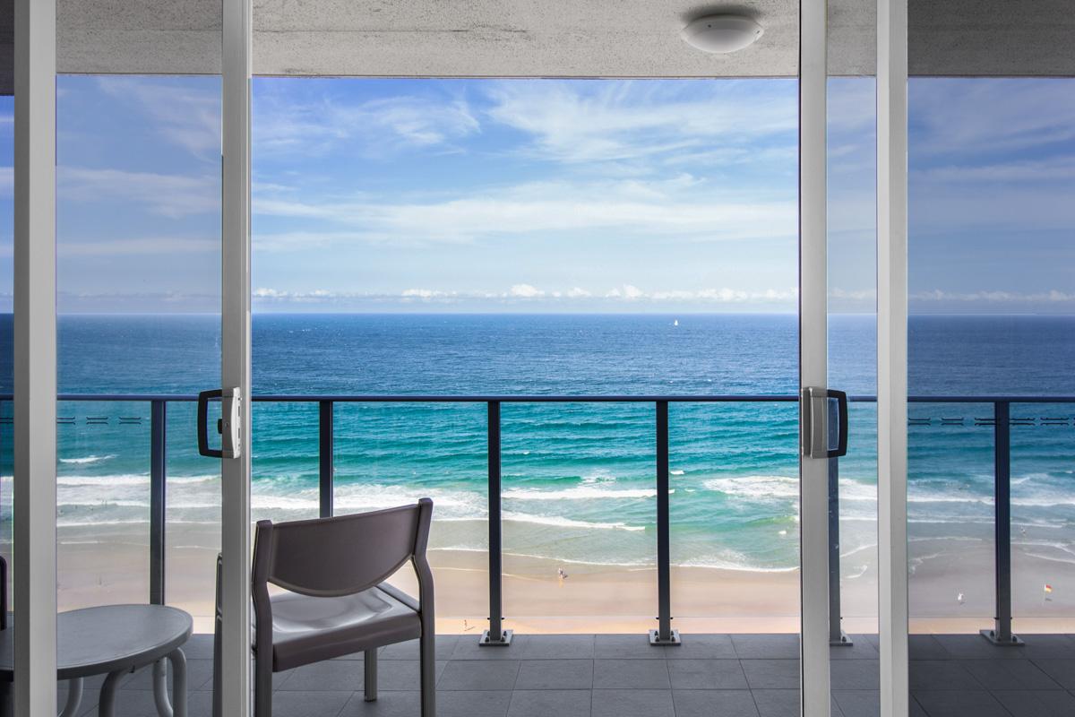Boulevard Towers Broadbeach accommodation balcony view